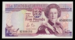 Jersey 5 Pounds 1989 P.16a XF- - Jersey