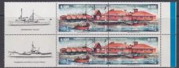 Chile 1987 Antarctica Base Arturo Prat 2v Pair  Se Tenant + Label  ** Mnh (30382) - Chili