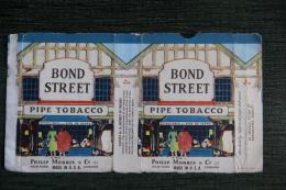 """Etui De Paquet De Tabac Pour Pipe """" BOND STREET"""", USA - Autres"""