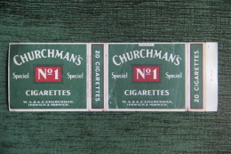 """Etui De Paquet De 20 Cigarettes """" CHURCHMAN'S """", IPSWICH ( England) - Empty Cigarettes Boxes"""