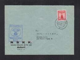 Dt. Reich NSKK Motor-Sturm Adorf Diensbrief 1943 - Briefe U. Dokumente