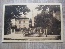 CPA 83 AUPS LA FONTAINE MONUMENTALE DU COURS - Aups