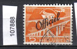 Schweiz, Bundesverwaltung Zst. 65 / Mi. 64 O - Dienstzegels