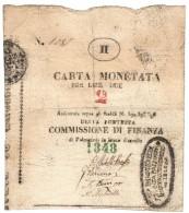 Palmanova 1848 2 Lire Gavello 62 Bel Biglietto BB+ Lotto 1354 - [ 4] Provisional Issues