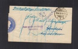 Dt. Reich Faltbrief 1922 Poro Geprüft Und Bezahlt - Briefe U. Dokumente