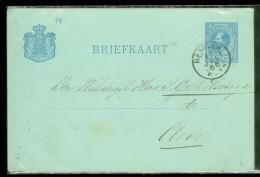 HANDGESCHREVEN BRIEFKAART Uit 1886 Van HAARLEM Naar CLEVE * NVPH Nr. 19 VOORDRUK (10461j) - Postal Stationery