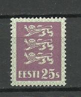 ESTLAND Estonia 1929 Michel 83 Thin Paper Type * - Estonie