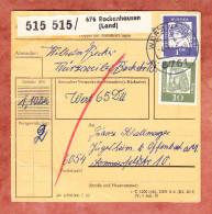 Paketkartenteil, MiF Beruehmte Deutsche, Rockenhausen Ueber Wuerzweiler Nach Jaegersheim 1964 (30708) - Briefe U. Dokumente