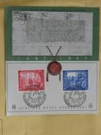 """Beleg 15 : FDC Leipziger Messe Herbst 1947 Mit Stempel Vom 2.9.1947 """"450 Jahre Messe – Privileg Für Leipzig"""" - Gemeinschaftsausgaben"""