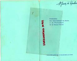 87 -SAINT JUNIEN -MENU ASSOCIATION PECHE HAUTE VIENNE-LIMOGES CERCLE UNION TURGOT- LA POPULAIRE -ASSEMBLEE GENERALE 1978 - Menus