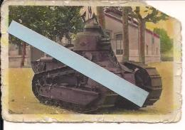 Chars Tanks Blindés Rcc Bcc As FT17 Renault Photo Bourg Les Valence Insigne  Tranchées Poilus 1914-1918 14-18 Ww1 Wk1 - War, Military