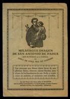 Murcia *Asilo De Ntra. Sra. De Lourdes - Milagrosa Imagen De San Antonio De Padua...* - Imágenes Religiosas