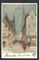 CPA - BRUXELLES - BRUSSEL - Illustrateur CASSIERS - Rue Chair Et Pain   // - Brüssel (Stadt)