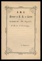 Impreso *La Hormiga De Oro - 4946* *J.M.J. Externat De N. D. De Lorette...* Meds: 125x184 Mms. - Documentos Antiguos