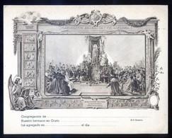 Impresor *Rieusset, S.A. Barcelona* *Marialium Sodalitatum Diploma* Meds: 140x180 Mms. - Imágenes Religiosas