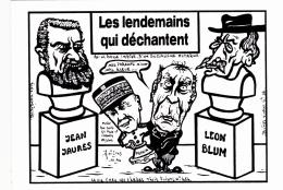 CPM Jean JAURES Léon BLUM PETAIN MITTERRAND Caricature Politique Tirage Limité Illustrateur LARDIE - Lardie