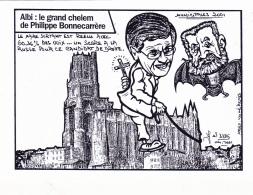 CPM ALBI Jean JAURES  Philippe BONNECARRERE Elections 2001 Caricature Politique Tirage Limité Illustrateur LARDIE-JIHEL - Lardie