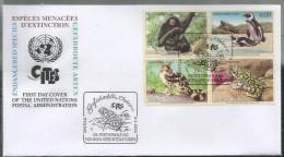 2002, UNO-Wien, 357/60, Gefährdete Arten (X): Fauna.  FDC - FDC