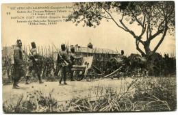 CONGO BELGE CARTE POSTALE ENTIER SURCHARGE EST AFRICAIN ALLEMAND (OCCUPATION BELGE) N°49 BAIE DE KIGOMA - Stamped Stationery