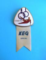 EUROPEAN GYMNASTICS CUP 1963 Large Participant Enamel Pin Badge Gymnastique Gymnastik Ginnastica Anstecknadel Distintivo - Gymnastics
