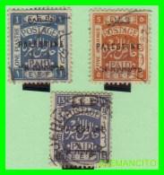 PALESTINA  ( ESTADO  DE  PALESTNE .ASIA ) 3 SELLOS AÑO 1922 - Palestina