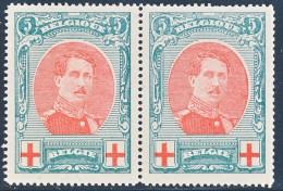 Nr 132 Rood Kruis - Paar ** - Nieuw Zonder Plakker - 1914-1915 Croix-Rouge