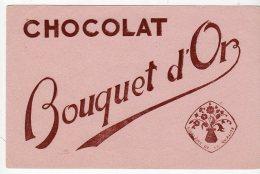 Juin16   75172     Buvard  Chocolat   Bouquet D'or - Cocoa & Chocolat