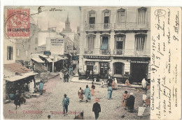 Bureau Francais - YT12- CPA De CASABLANCA (Maroc) Pour Marseille - 1905 - Maroc (1891-1956)