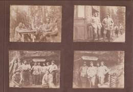 ALBUM ORIGINEAU DE 1 SOLDAT DE WW1 107 FOTOS DE FRANCE, GRECE, AFRIQUE, ECT.... 1917 - 1918   26* 18 CM - War, Military