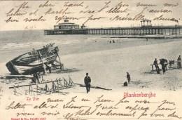 Carte à La Lune -  Blankenberghe - Le Pier - 1903 - ( Blanche ) - Blankenberge