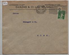 Danzas & Co. Lted St. Gallen - Perfin Nr. 125III - Schweiz
