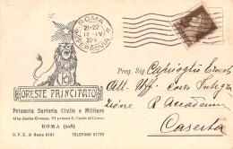 """05704 """"ROMA - ORESTE PRINCIPATO - PRIMARIA SARTORIA CIVILE E MILITARE"""" CARTOLINA COMM. INTESTATA, SPEDITA 1932 - Commercio"""