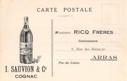 """05705 """"FRANCIA - COGNAC  (CHARENTE) - I. SAUVION & C."""" CARTOLINA COMM. INTESTATA, NON SPEDITA - Commercio"""