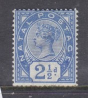 South Africa, Natal, Queen Victoria, 1891, 2 1/2d Bright Blue, MH * - Afrique Du Sud (...-1961)