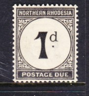 Northern Rhodesia, 1952, Postage Due, 2d, Chalky Paper, MH * - Northern Rhodesia (...-1963)