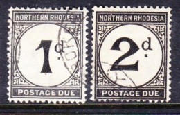 Northern Rhodesia, 1929, Postage Due, 1d, 2d, Used - Northern Rhodesia (...-1963)