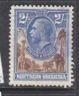 Northern Rhodesia, 1925, George V, 2/=,  Used, FISCAL - Northern Rhodesia (...-1963)