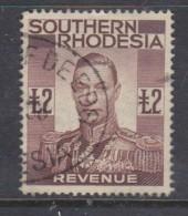 Southern Rhodesia, George VI, 1937 Revenue, £2, , Used - Southern Rhodesia (...-1964)