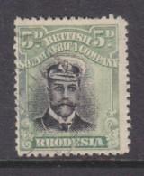 Southern Rhodesia, 1913, George V, 5d Black & Green   Die II, Perf 14, Used - Southern Rhodesia (...-1964)