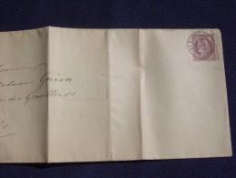 Charente Maritime : N°54 CÉRÈS 10 C Sur Pli De LA ROCHELLE Pour PARIS ,Tarif (imprimé Sb) - Postmark Collection (Covers)