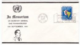 United Nations Sc#93 4-cent Issue Economic Commission Latin America, FDC Cancel Decade Of UN Stamps, Hammarskjold Cover - Briefe U. Dokumente