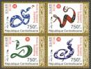 CA13326a Central Africa 2013 Year Of Snake 2013 MNH Mini Sheet - Zentralafrik. Republik