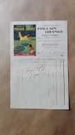 Facture Ou Lettre - Gondrecourt ( Meuse ) - Epicerie Fine Mercerie Evrard Le Chocolat Poulain Orange - 1908 - France