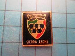 Pin610d Pin´s Pins /    SPORTS : SLOOG SIERRA LEONE COMITE OLYMPIQUE ANNEAUX  Marquage Au Dos : Voir Photo N°2 : - ----- - Bowling