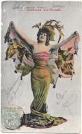 CPA COLORISEE CELEBRITES - Artiste-Danseuse Des Années Folles - Feuilles D'automne - ENCH - - Entertainers