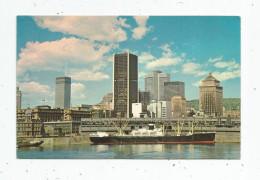 G-I-E , Cp , Bateaux , CANADA , QUEBEC , MONTREAL , Panorama Du Quartier Des Affaires , écrite ,1967 - Cargos