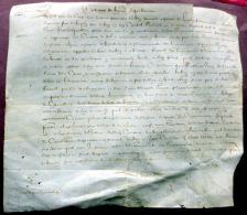 63 RIOM LES  PRADEAUX LETTRE PATENTE DU ROI SUR VELIN  ACCORDANT LA JOUISSANCE DE TENEMENTS A PIERRE BRUNE 1603 - Documents Historiques
