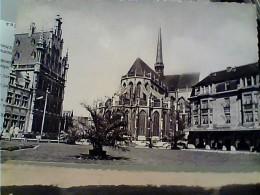 BELGIO  LEUVEN  LOUVAIN PLACE FOCH E EGLISE ST PIERRE   V1961  FM2445 - Leuven