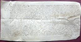39 DOLE  ACHAT PAR JEAN LORIOL DE SALINS DEMEURANT A DOLE D'UN LOPIN DE VIGNES DOCUMENT SUR VELIN  1575 - Historical Documents