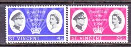 ST.  VINCENT  245-6   *  ROYAL  VISIT - St.Vincent (...-1979)